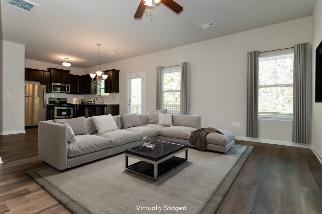 Virtual staging family room