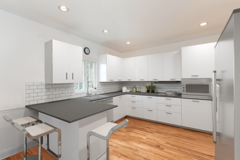 Virtual staging kitchen